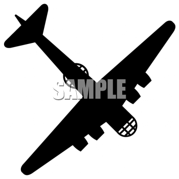 War Plane Silhouette.