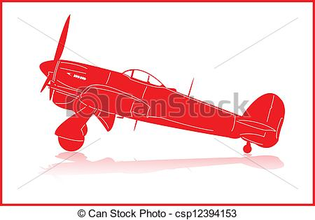 Clipart Vector of Fighter planes..
