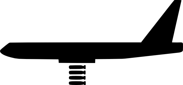 Bomber Plane clip art Free vector in Open office drawing svg.