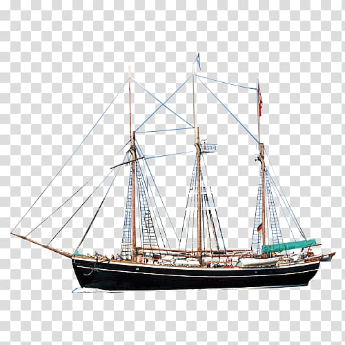 Black and red ship illustration, Sailing ship Barque Mast.