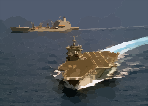 The Uss Enterprise (cvn 65) Pulls Away From The Military.