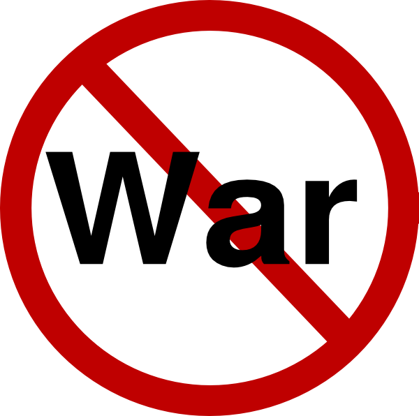 No War Clipart.