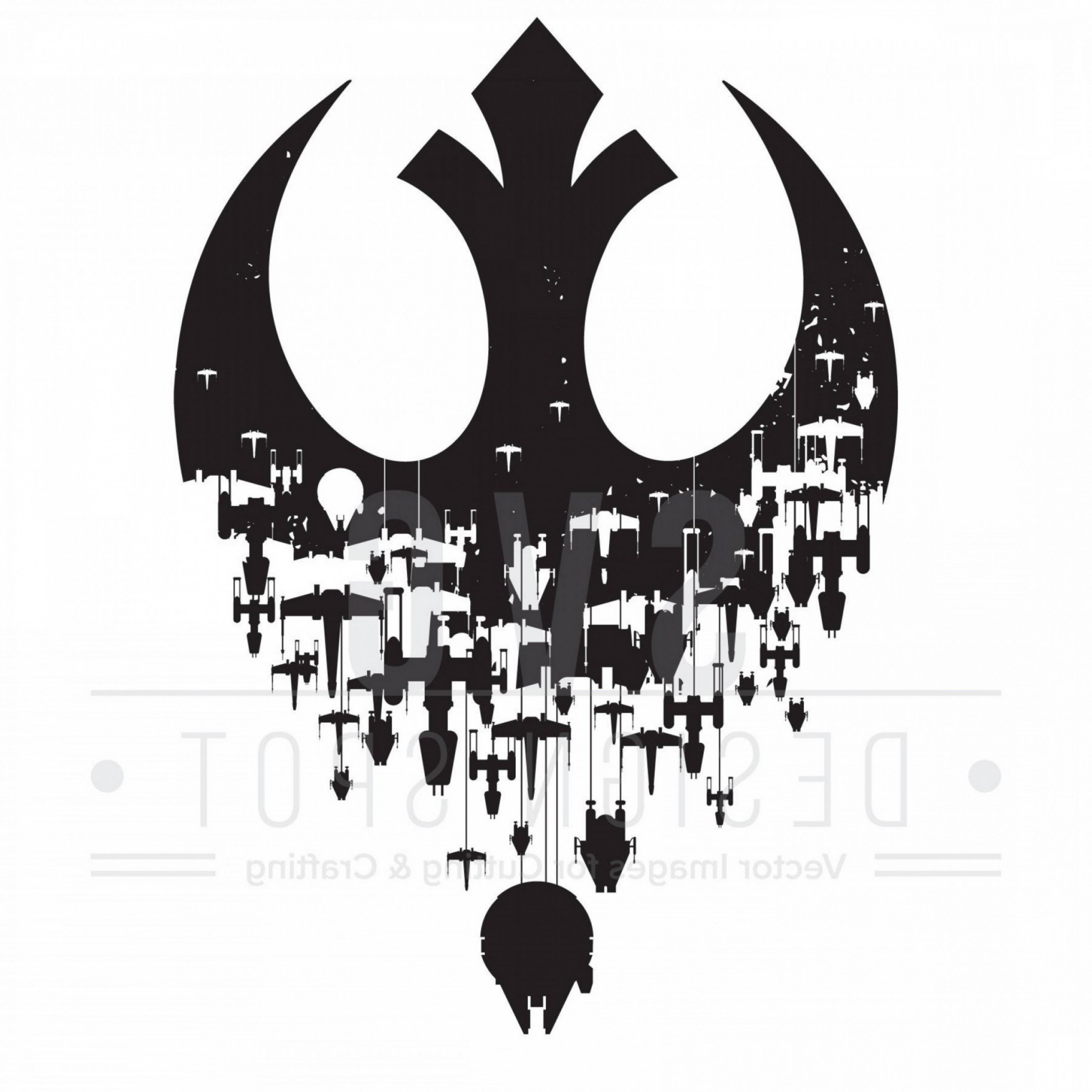 Star Wars Logo Stencil Vector.
