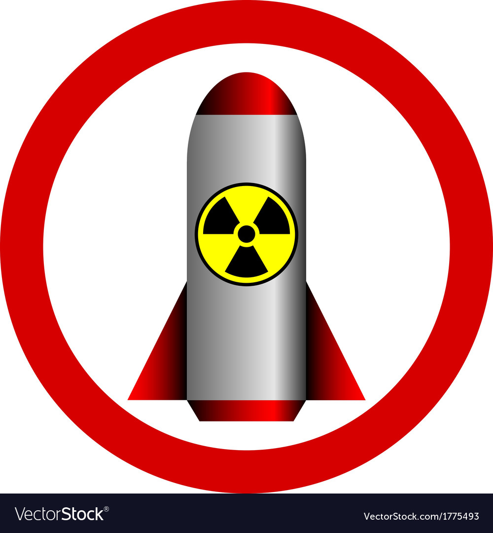 Nuclear war and radiation sign forbidden.