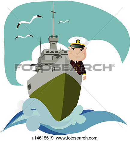 Clip Art of navy, vessel, warship, battleship, armed forces day.