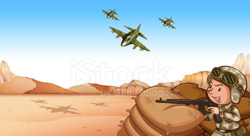 War zone Clipart Image.