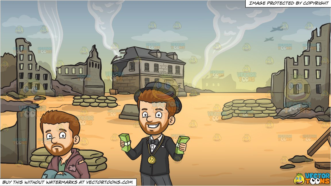 Rags To Riches and War Zone Background.