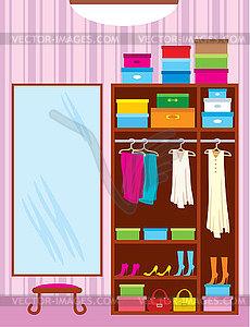 Wardrobe Closet Clipart.
