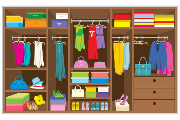 Wardrobe Clipart Images.