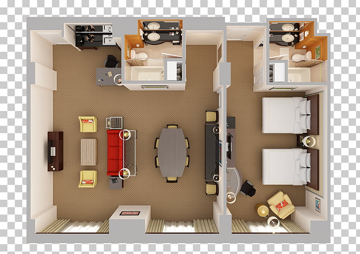 Bedroom Orlando Suite, wardrobe plan PNG clipart.