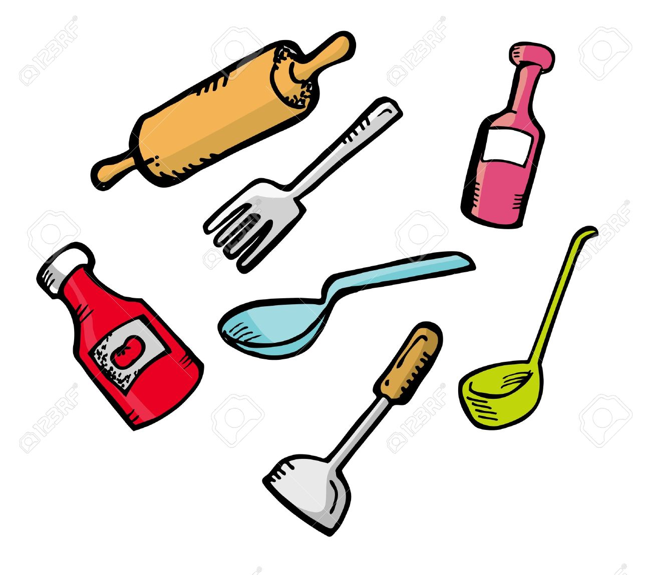 Cooking Ware In Doodle Style Royalty Free Cliparts, Vectors, And.