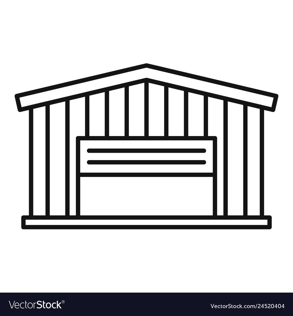 Cargo warehouse icon outline style.