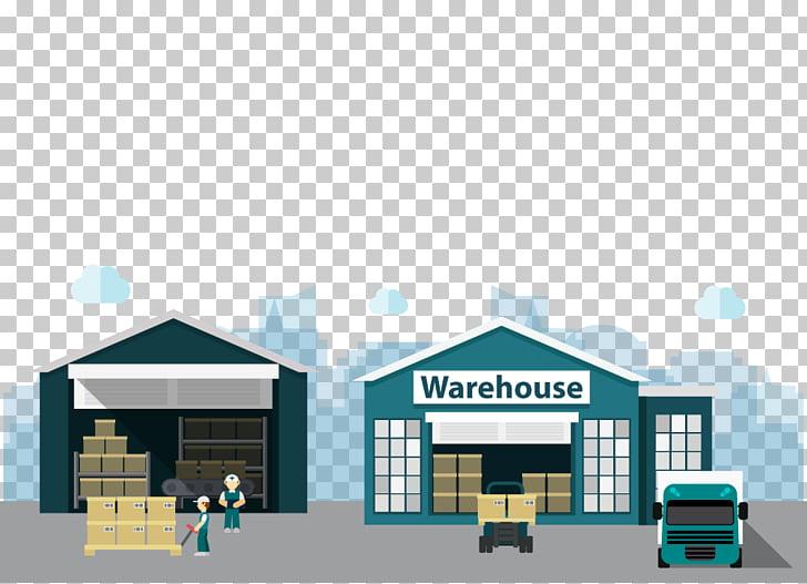 Warehouse Building Logistics Distribution, Cartoon material.