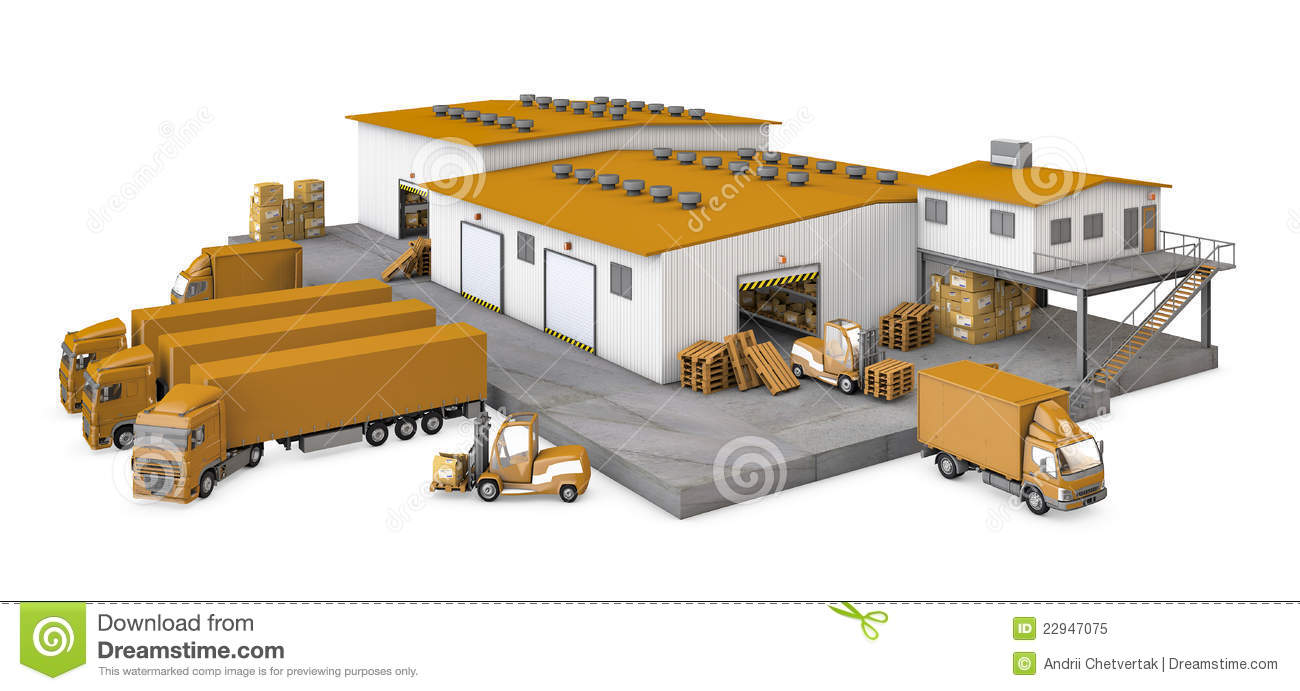 Warehouse Stock Illustrations.
