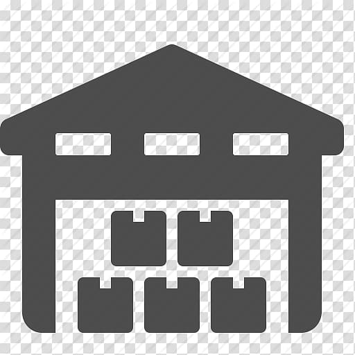 Gray house illustration, Warehouse Computer Icons Logistics.