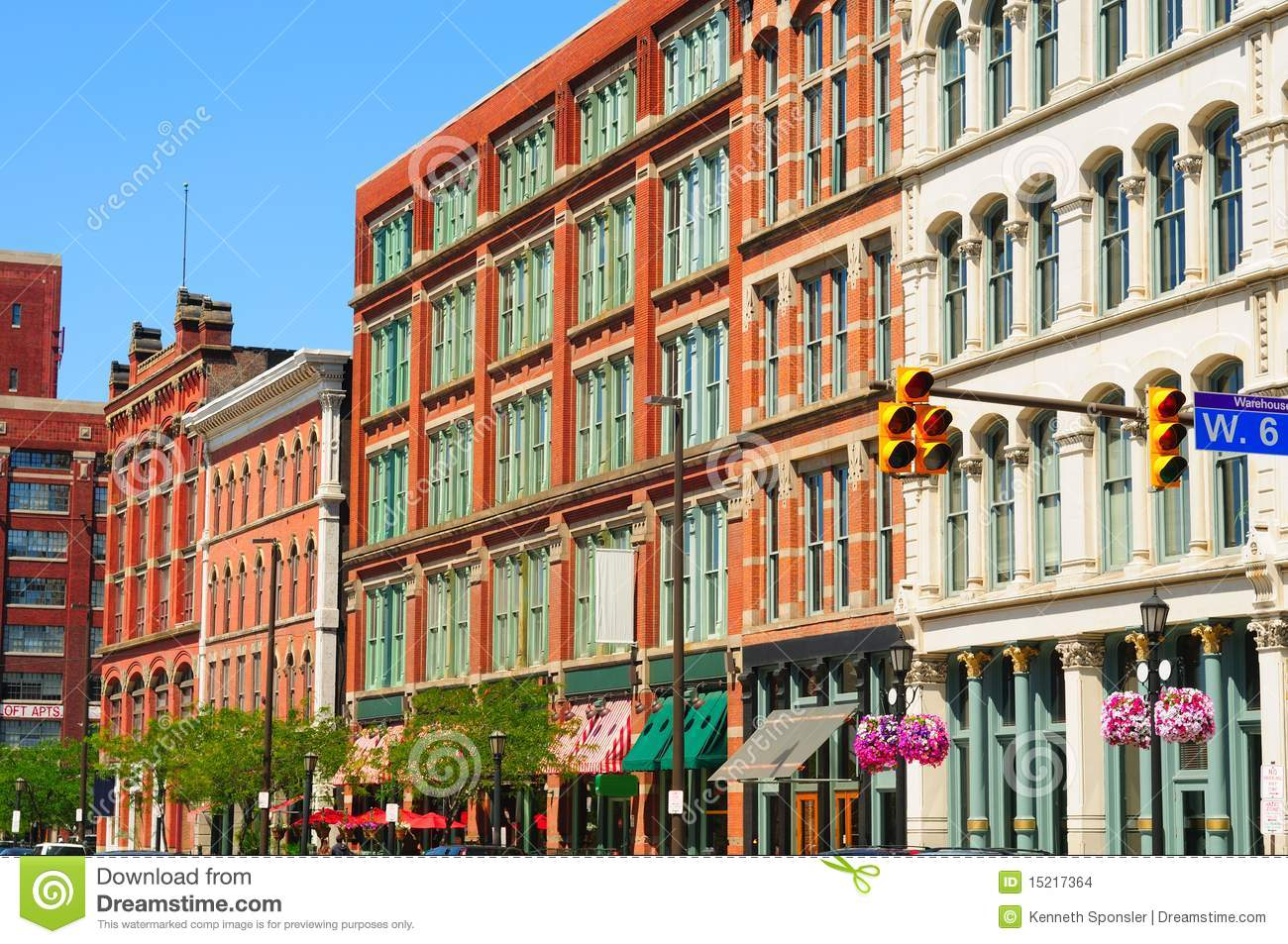 Warehouse District Exteriors Stock Images.
