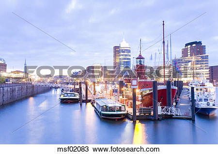 Stock Photo of Germany, Hamburg, Old Warehouse District msf02083.