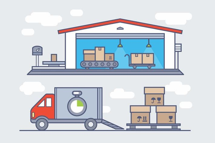 Warehouse Clipart by Jumsoft.