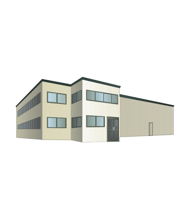Warehouse building clipart.