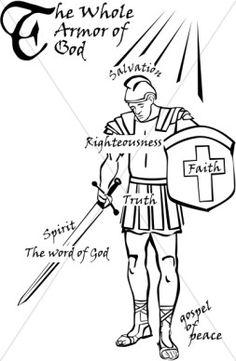 Spiritual warfare clipart.