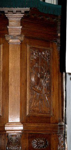 Warffum, Hunsingo, Groningen, hervormde kerk, pulpit, detail.
