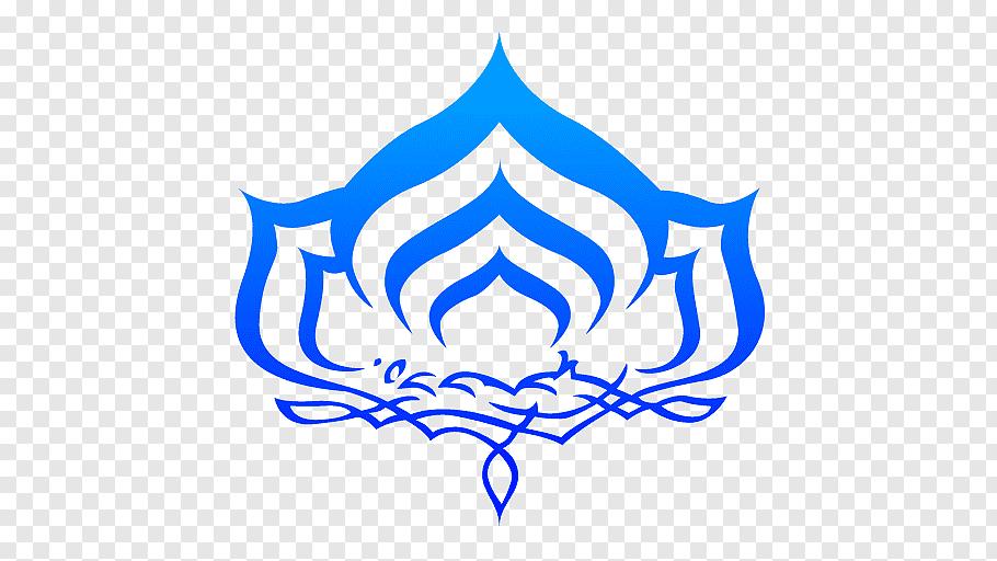 Blue floral graphic art, Warframe Logo Symbol Graphic design.