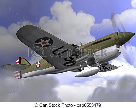Stock Illustration of P40 Warhawk.