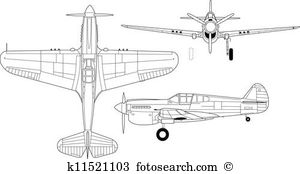 Wwii curtis p 40 warhawk Clip Art Vector Graphics. 2 wwii curtis p.