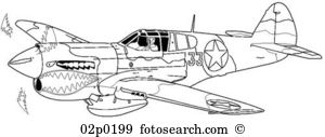 Curtis p 40 warhawk Clip Art Vector Graphics. 4 curtis p 40.