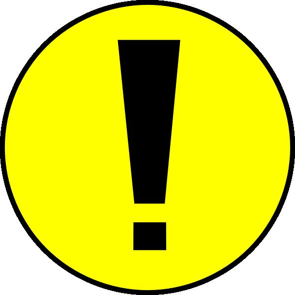 Yellow ! Warning Clip Art at Clker.com.