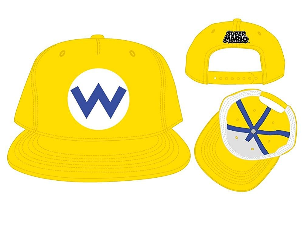 Wario Super Mario Nintendo Officially Licensed Costume Hat.