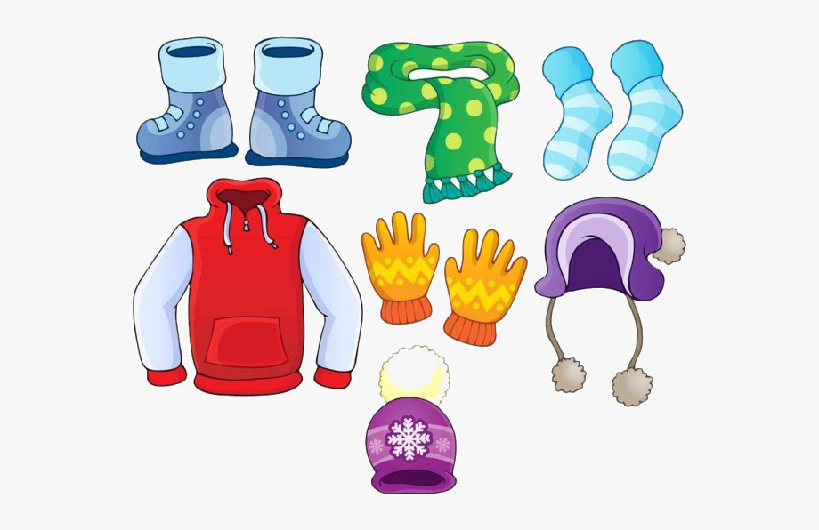 Winter Clothes Clipart Cartoon Image History Transparent.