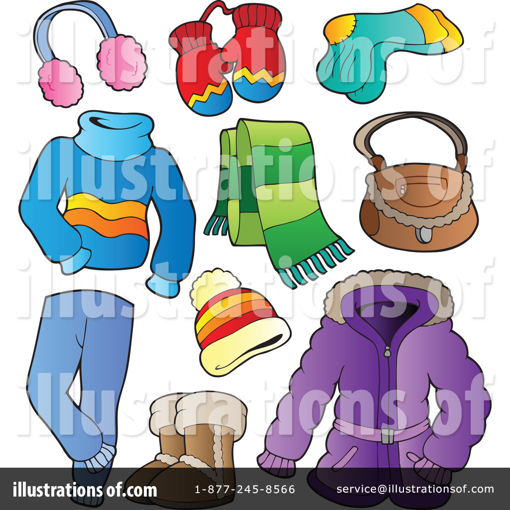 Winter Clothes Clipart #1081660.