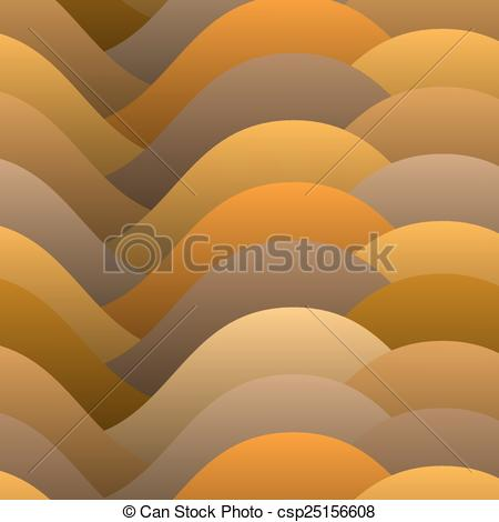 Vector Clipart of Abstract warm color waves. Vector background.