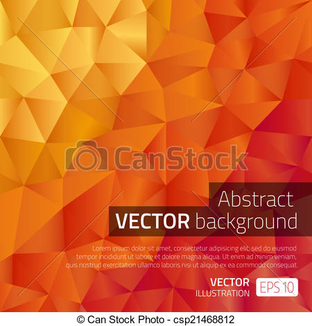 Vector Clip Art of Modern leaflet template with pattern in warm.