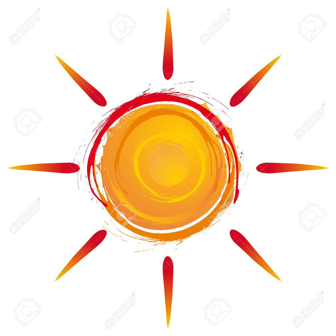 Summer Sun Exploding In Warm Colors Royalty Free Cliparts, Vectors.