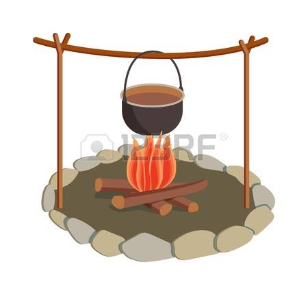 Forest Bonfire Stock Vector Illustration And Royalty Free Forest.