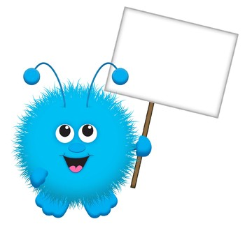 Warm Fuzzy with Blank Sign / Warm Fuzzies Clipart Set.