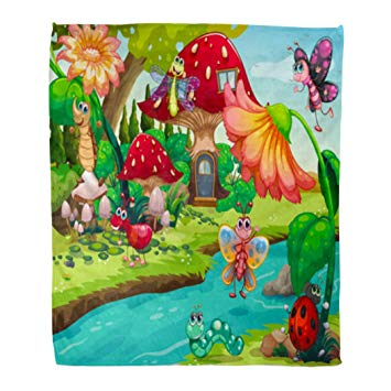 Amazon.com: Golee Throw Blanket Fantasy Insects Flying by.