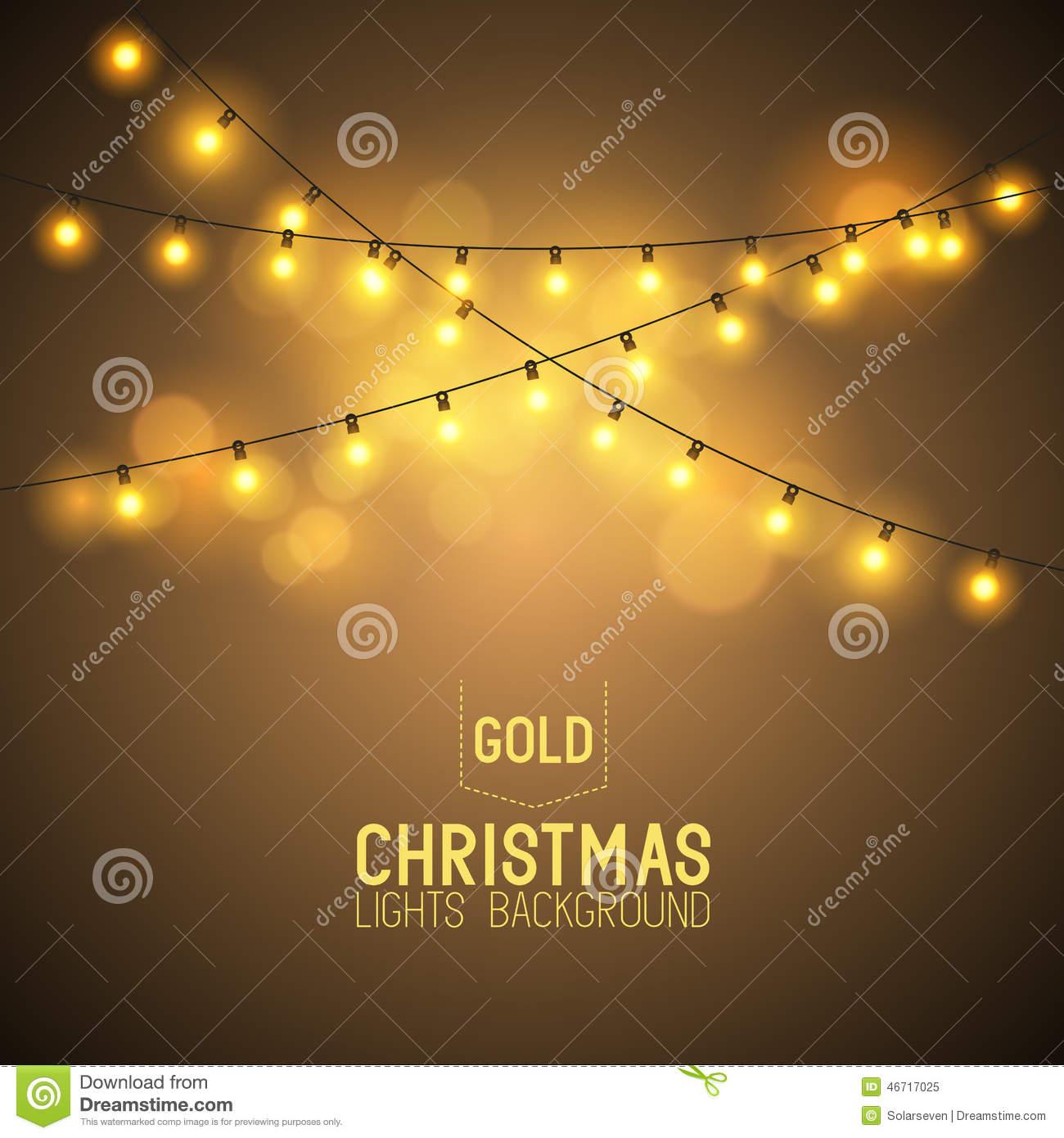 Warm Glowing Christmas Lights Stock Vector.