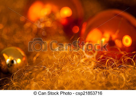 Stock Photography of Warm gold and red Christmas candlelight.