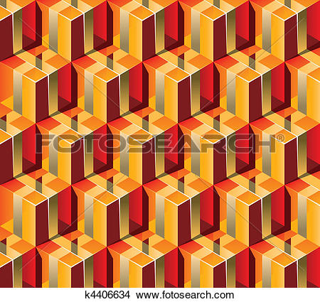 Clipart of Warm colors Gift Boxes with gold ribbon. 3D pattern.