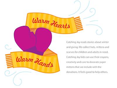 Warm Hands, Warm Heart Flyer by Alex Fram on Dribbble.