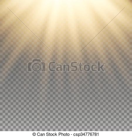 Vector of Yellow warm light effect..