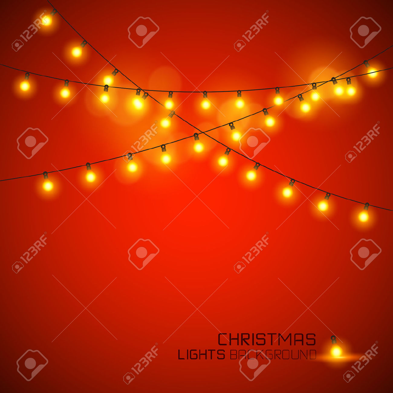 Christmas led lights clipart.