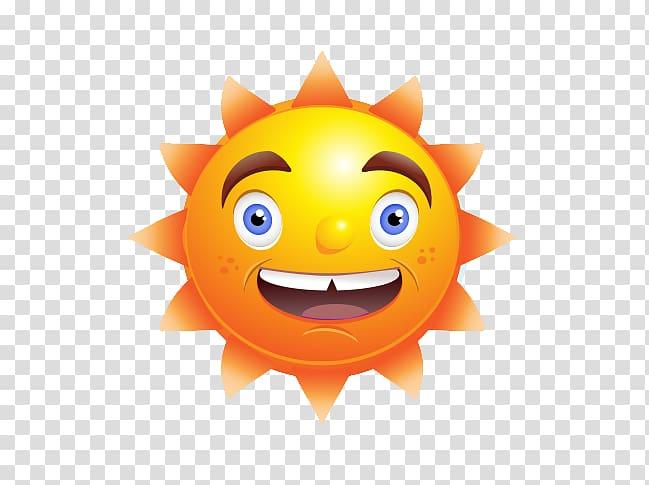 Cartoon Euclidean , Smiley sun warm transparent background.