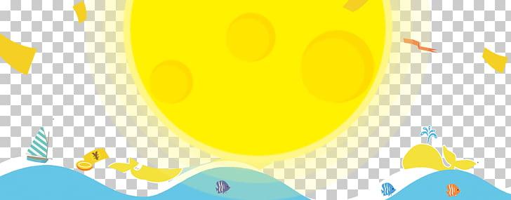 Beach Light, Beach material under the warm sun PNG clipart.
