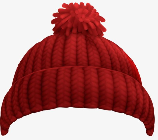 Knitted Hat PNG, Clipart, Hat Clipart, Knitted Clipart, Red.