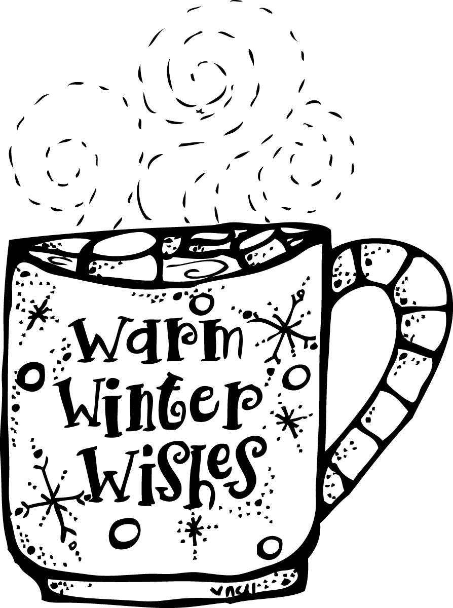 Winter Clipart Black And White Melonheadz Warm Wishes Png.