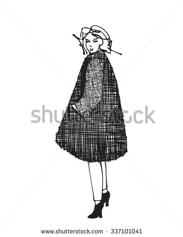 Woman Golfer 2 Retro Clip Art Stock Vector 61636087.